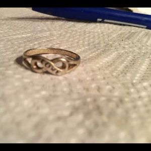 Silver 925 child's infinity ring, LOVE